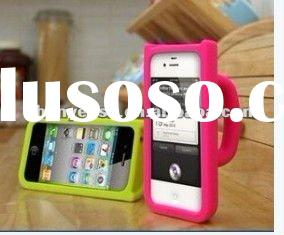 For iphone silicone case with stand
