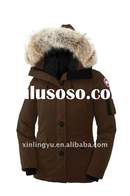 Free shipping New Classic Lady's Long Winter Down Jacket Real Hood Fur/Women Down Coat