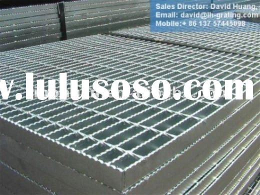 Galvanized serrated bar grating , Galvanized serrated bar grating , ASTM A36 steel