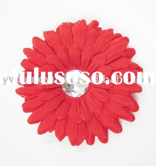 Gerber Daisy Flower Clip for beanies and headbands hair flower