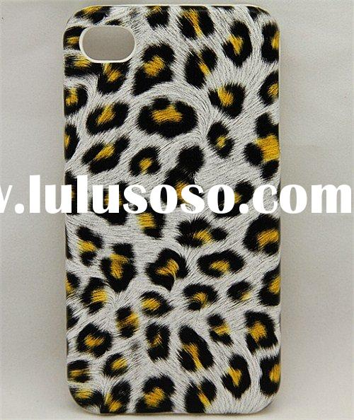 HOT SALE for Apple iphone4 32gb leopard spots cell phone case protective leather hard case