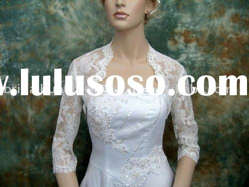 Half Sleeve Lace Wedding Jacket/Bridal Bolero Jacket