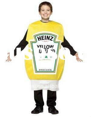 Heinz Squeeze Mustard Bottle Children Costume bscc-2174
