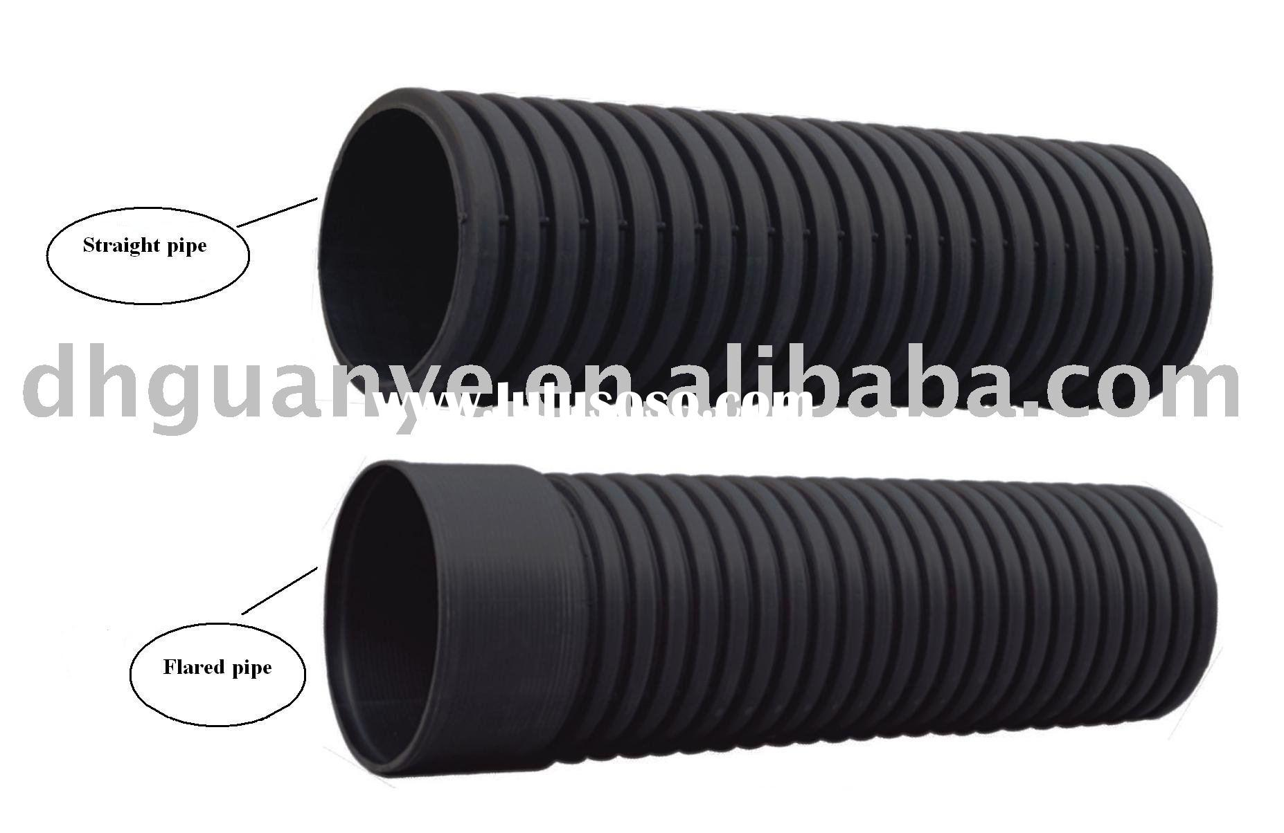 High density PE double wall corrugated pipe