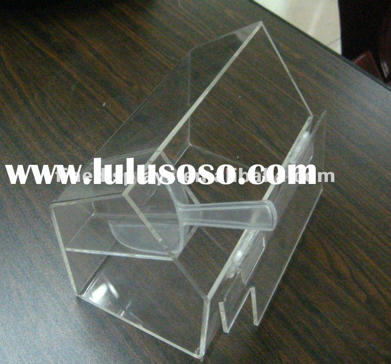 Hinged lid candy box with scoop holder plastic scoop (FD-A-0269)