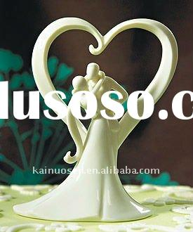 Hotsale wedding cake toppers porcelain