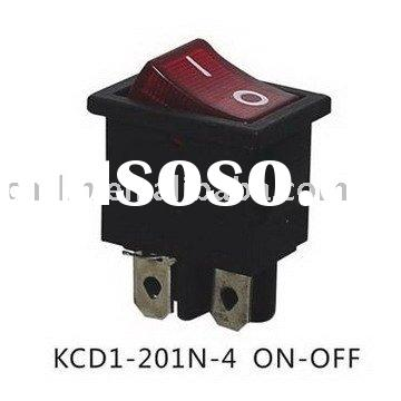 KCD1-201N-4 ON OFF lighted rocker switch
