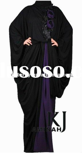 KJ-AMINAH 1001 Full Length Dress 2012, fashion Muslim dress