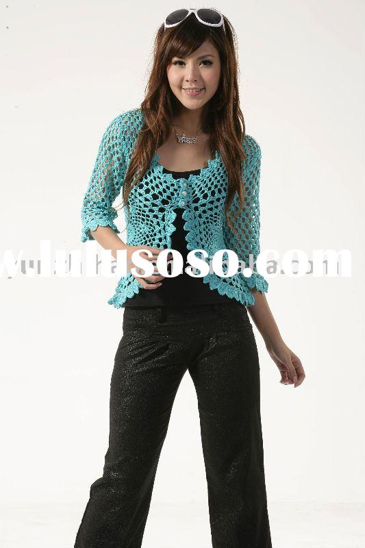 Lady fashion hand crochet sweater tops