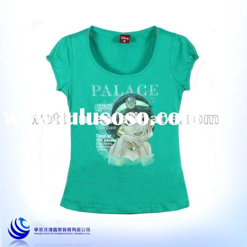 Latest short sleeve beautiful girl t shirt