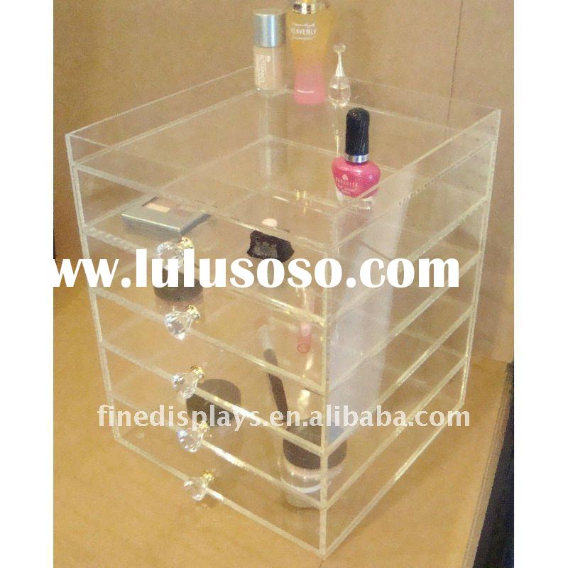 Lucite Acrylic Organizer Cube Clear Box Make Up Case Drawer (JH-C-270)