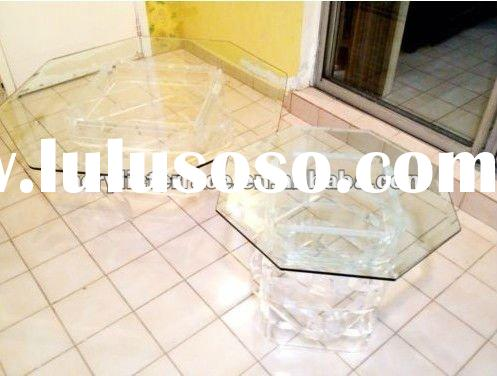 MID CENTURY MODERN LUCITE COFFEE TABLE & CORNER TABLE