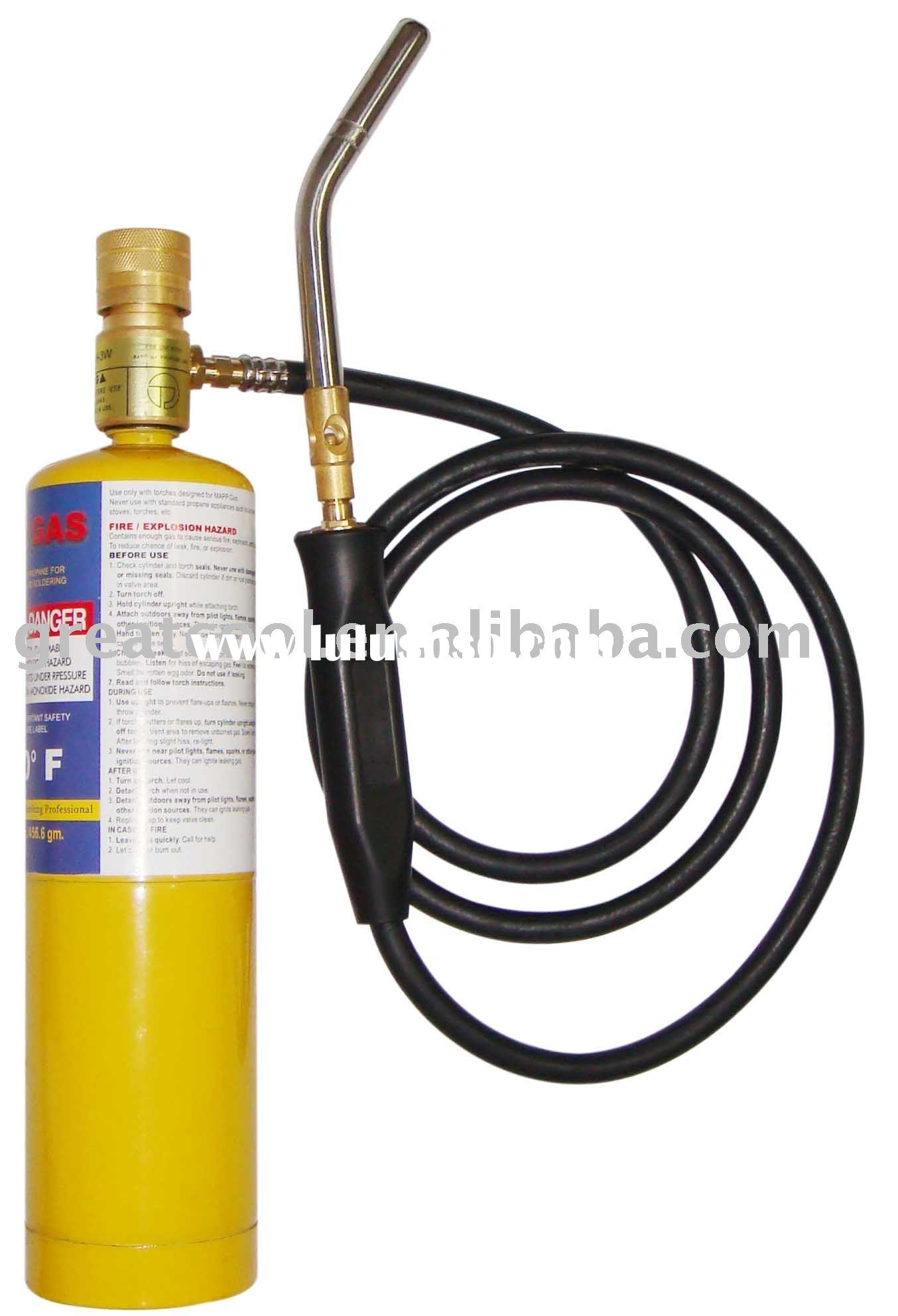 Mapp Gas Torch Mapp Gas physical and chemical property: 1.Actual Burning
