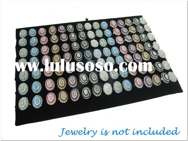 Multi-Slot Ring Pad Insert for Basic Jewelry Display Tray Case Glass Top Box