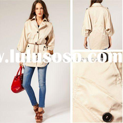 New Arrival Off White Long Sleeve Fashion Spring Coat