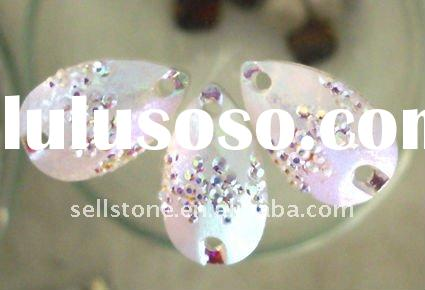 New design frosting resin stone, sew on rhinestone, with two holes,flatback, AB color