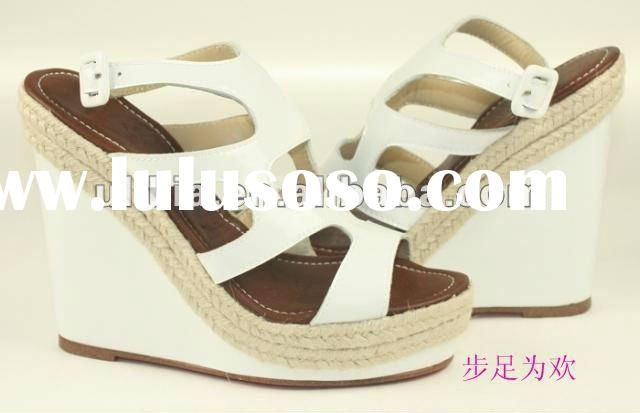 high heel wedge shoe