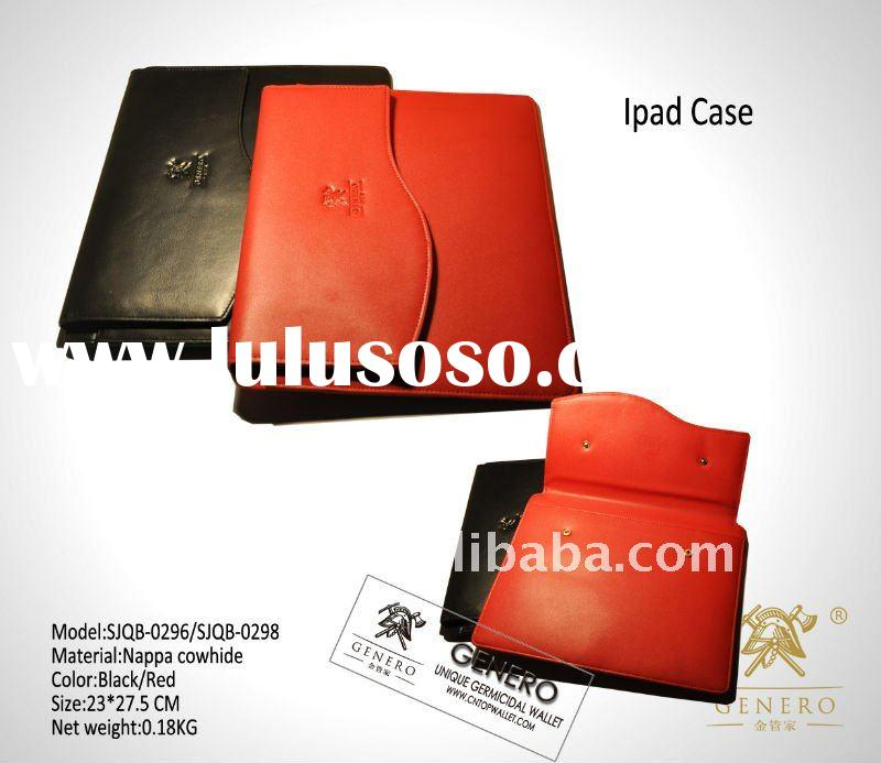 Newest arrival genuine leather men's magic ipad case