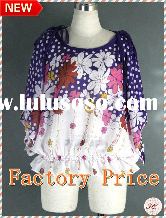 Newest design ladies fashion shirt for 2012