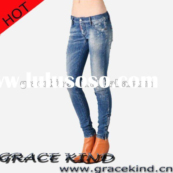 Newly Style Denim Fashion lady Skinny Jeans,Denim Women Jeans 2012(GK170#)