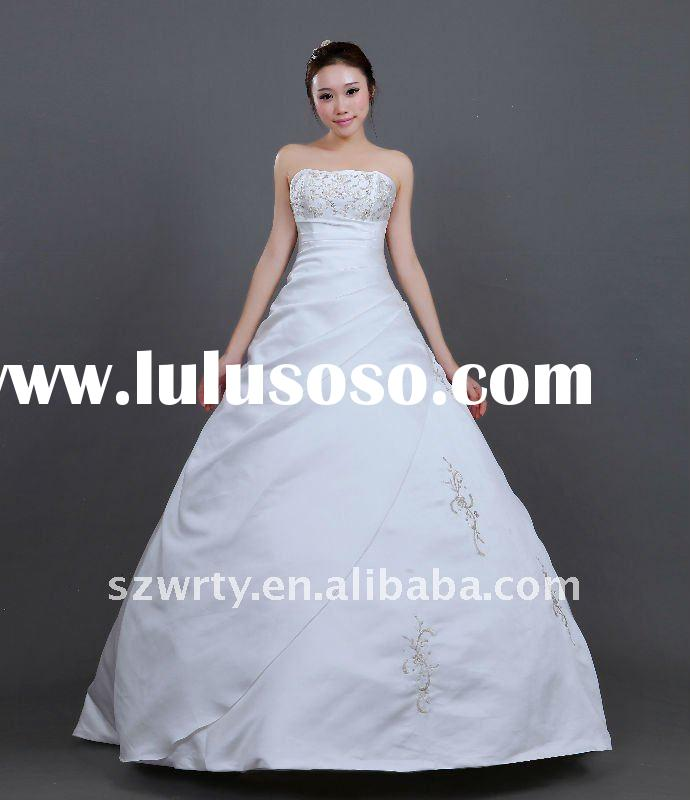 Silver satin wedding dress silver satin wedding dress for Wedding dress no train