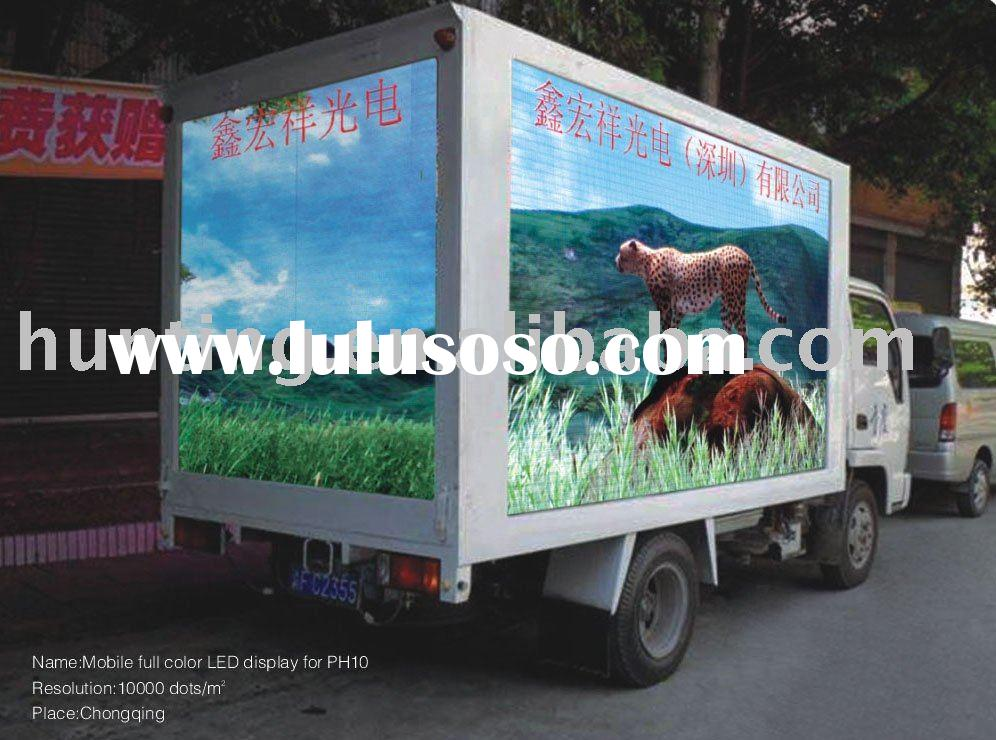 Outdoor full color P10 truck LED screen,mobile truck for advertising LED display