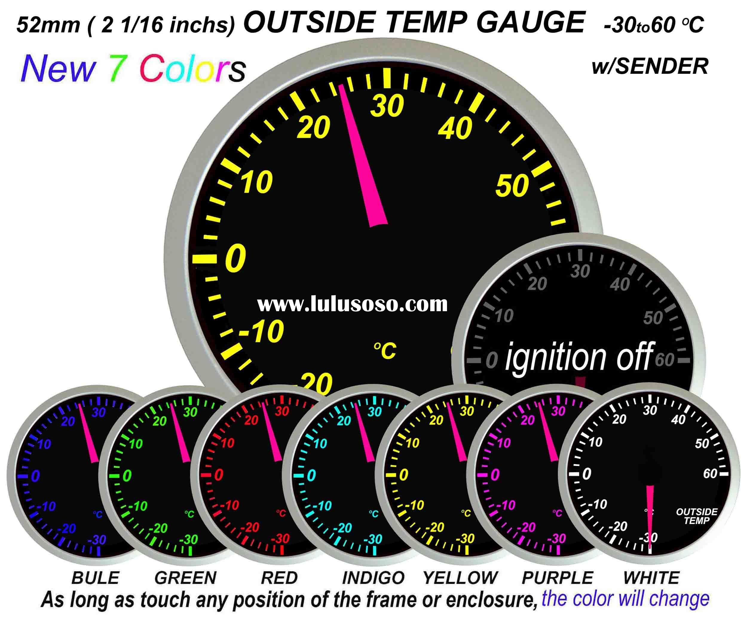 Outside Temp. Gauge 7 color (auto meter, auto part)