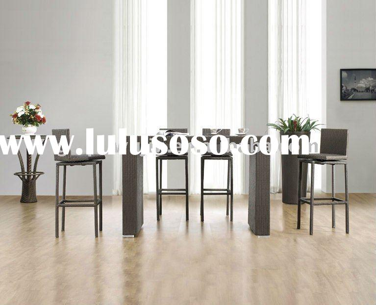 PE Rattan Leisure Furniture Bar Chairs and table set (A028# chair & B028# table)