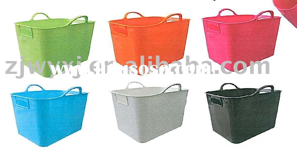 PE box,plastic storage buckets,square plastic bucket with lid