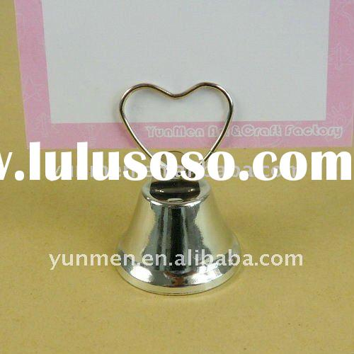 PH022- Heart Top Bell Place Card Photo Holder stand memo holder stand