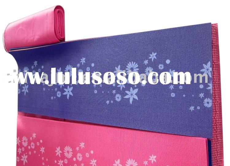 PVC foam Pilate print yoga mat