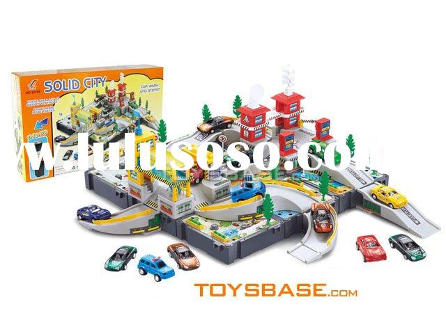 Plastic toy car wash & filling station IZH97383