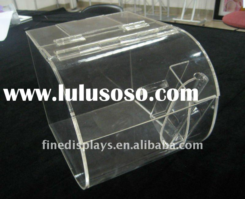 Round Acrylic Candy Bin with scoop lable holder (AD-A-0028)