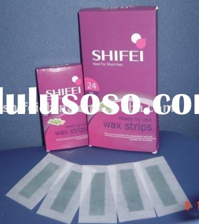 SHIFEI new hair removal Cold Depilatory Wax Strips,ready to use