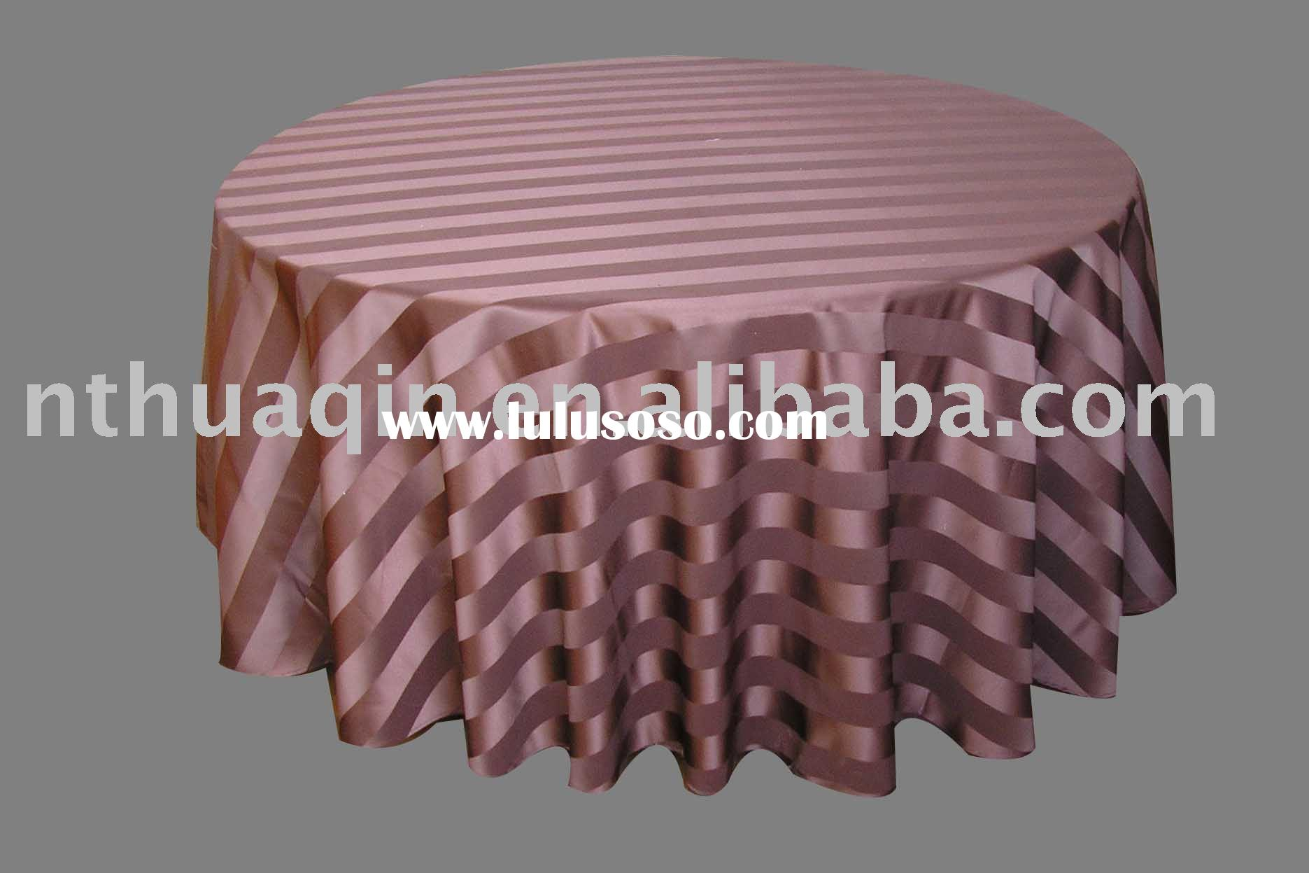 Satin strip tablecloth, polyester tablecloth, jacquard tablecloth