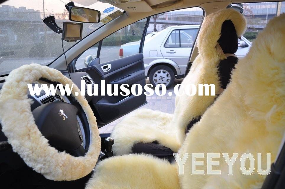 Sheepskin shearing Super soft Car Seat Covers and Steering Wheel Covers 10YY-NX134