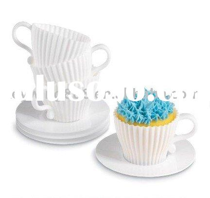 Silicone rubber cup cake molds for Ice cream