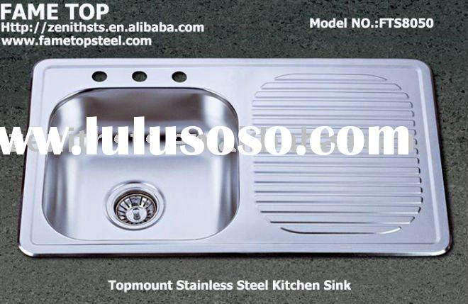 Stainless Steel Topmount Kitchen Sink FTS8050
