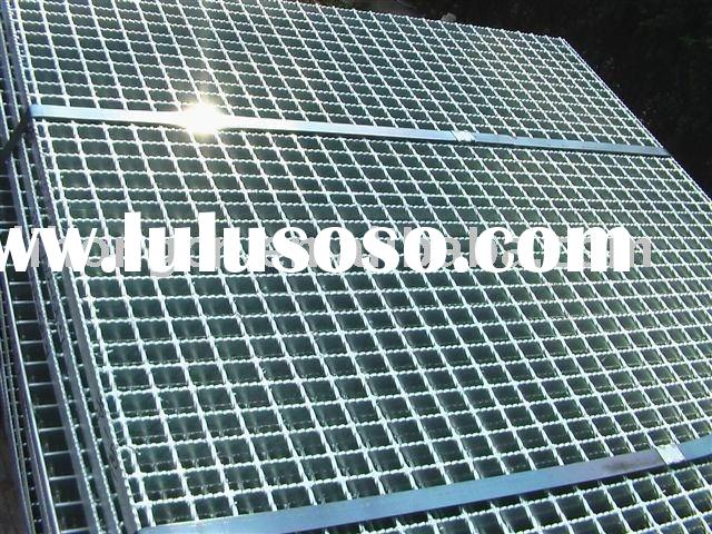 Steel grating platform, serrated steel bar grating, Galvanized serrated bar grating
