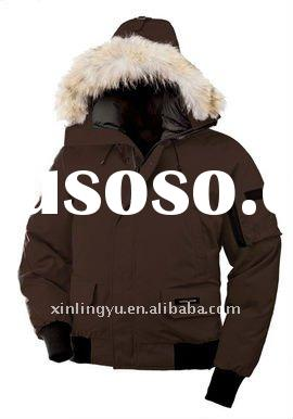 TOP quality Goose Men's coat 7950M BROWN garment goose jacket ,MAN jacket,winter jacket man