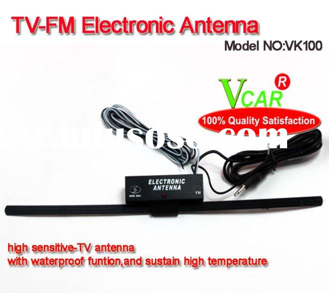 T shape TV-FM Electronic car radio antenna booster