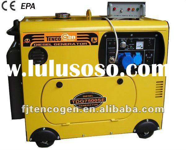 TencoGen 5KVA Super Soundproof Diesel Generator Price List (for sale)