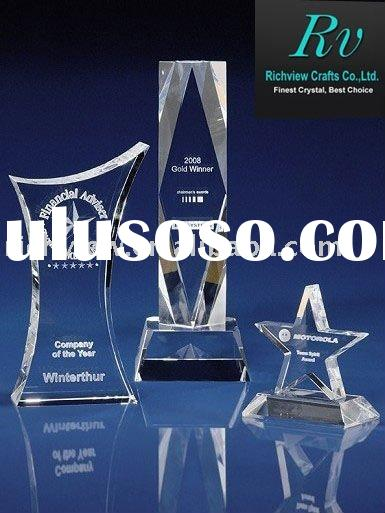 Top Quality 3d laser crystal star award