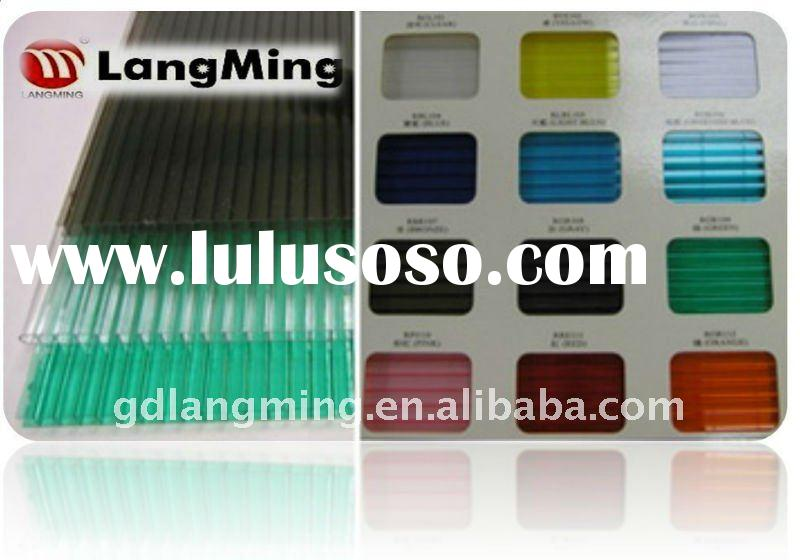 Twin-wall Polycarbonate Sheet 5mm Thickness Iso9001