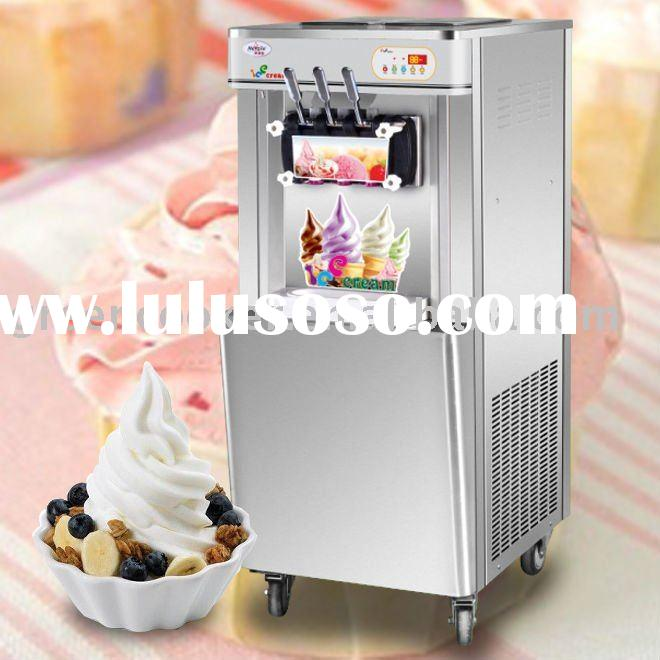 Upright yogurt ice cream machine,42L ice cream output/hour