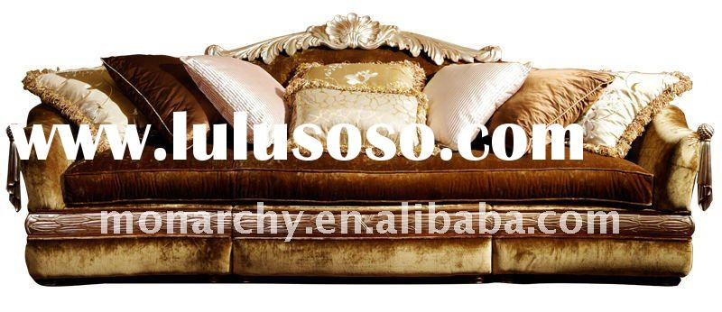 V098C-4 sofa set classic wood carving living room furniture sofa sets