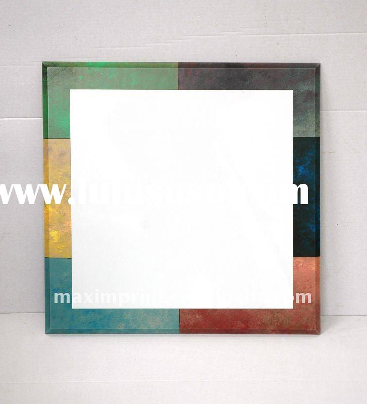 Whiteboard with colorful decorative frame