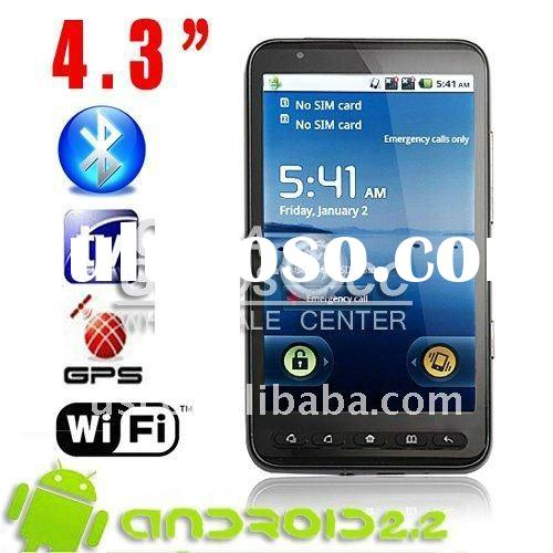 Wholesale 4.3 inch android 2.2 mobile phone Wifi TV GPS cell phone