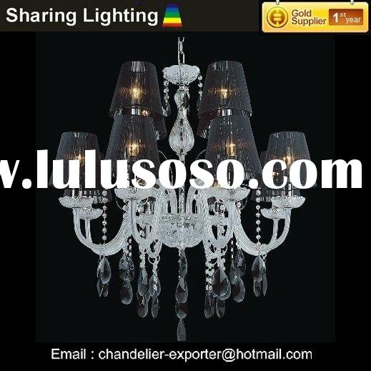 [Sharing Lighting]Black shade chandeliers+pendant lamp lamp shades chandelier