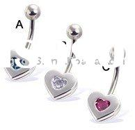 (WS660)Fashion 316L stainless steel navel body piercing jewelry